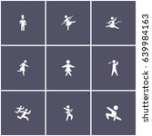set of 9 human elements such as ... | Shutterstock .eps vector #639984163