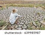 sad farmer is sitting in a... | Shutterstock . vector #639985987