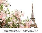famous landmark of paris  ... | Shutterstock . vector #639986227