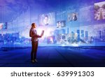 online curation media concept.... | Shutterstock . vector #639991303