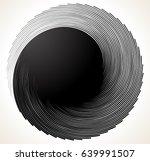 uniquely deformed swirl  twirl... | Shutterstock .eps vector #639991507