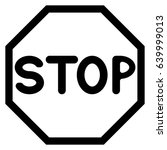 stop sign icon . | Shutterstock .eps vector #639999013