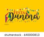 festa junina carnival ... | Shutterstock .eps vector #640000813