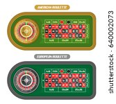vector image of roulette table  ... | Shutterstock .eps vector #640002073