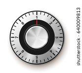 security concept. safe dial... | Shutterstock .eps vector #640009813