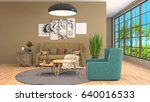 interior living room. 3d... | Shutterstock . vector #640016533