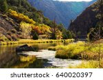 black canyon of the gunnison... | Shutterstock . vector #640020397