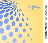 abstract halftone sphere in... | Shutterstock .eps vector #640022707