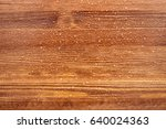 Wood Surface With Droplets