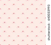 seamless pattern of heart... | Shutterstock .eps vector #640033993