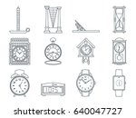 time and clocks signs set....   Shutterstock .eps vector #640047727