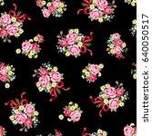 rose illustration pattern | Shutterstock .eps vector #640050517