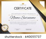certificate template with... | Shutterstock .eps vector #640055737