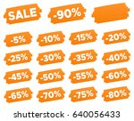 discount price tags   discount... | Shutterstock .eps vector #640056433