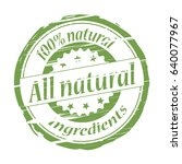 all natural ingredients grunge... | Shutterstock .eps vector #640077967