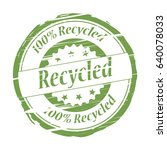 recycled grunge stamp   vector | Shutterstock .eps vector #640078033
