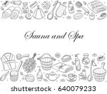 sauna and spa. sauna... | Shutterstock .eps vector #640079233