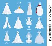 wedding bride dress elegance... | Shutterstock .eps vector #640081027