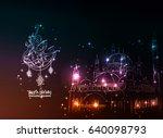 illustration of ramadan kareem... | Shutterstock .eps vector #640098793
