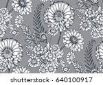 seamless pattern with hand... | Shutterstock .eps vector #640100917
