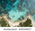 aerial view of the sardinian...   Shutterstock . vector #640106017