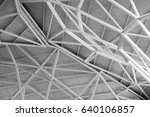 abstract lines on architecture. ... | Shutterstock . vector #640106857
