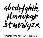vector acrylic brush style hand ... | Shutterstock .eps vector #640108957