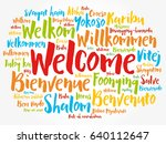 welcome word cloud in different ... | Shutterstock .eps vector #640112647