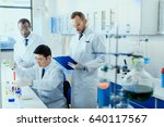 professional scientists in... | Shutterstock . vector #640117567