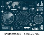 set of futuristic user... | Shutterstock .eps vector #640122703