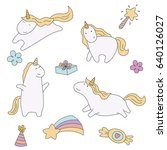 set of patches comic style.... | Shutterstock .eps vector #640126027