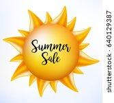 summer sale hot discount.... | Shutterstock .eps vector #640129387