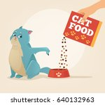 owner hold carton box with... | Shutterstock .eps vector #640132963