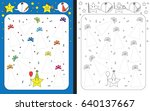 preschool worksheet for... | Shutterstock .eps vector #640137667