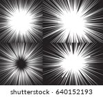 four templates for comic... | Shutterstock .eps vector #640152193