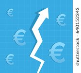 graph arrow up  euro increase... | Shutterstock .eps vector #640152343