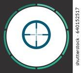 crosshair. flat simple blue...