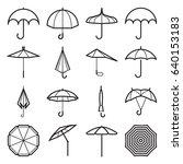 umbrella icons. linear symbols... | Shutterstock .eps vector #640153183