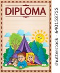 diploma topic image 4   eps10... | Shutterstock .eps vector #640153723