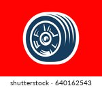 tyre symbol or icon   car tire ... | Shutterstock . vector #640162543