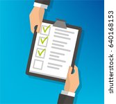 hand sharing clipboard... | Shutterstock .eps vector #640168153