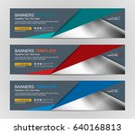 abstract web banner design... | Shutterstock .eps vector #640168813