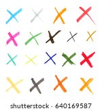 set of hand drawn with marker... | Shutterstock .eps vector #640169587