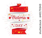 happy victoria day sticker and... | Shutterstock .eps vector #640170343
