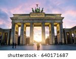 illuminated brandenburg gate... | Shutterstock . vector #640171687