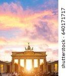 illuminated brandenburg gate... | Shutterstock . vector #640171717