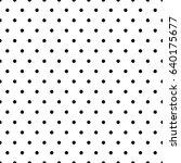 seamless circles  dots pattern. ... | Shutterstock .eps vector #640175677
