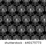 vector damask seamless pattern... | Shutterstock .eps vector #640175773