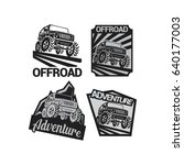 4 adventure off road logo... | Shutterstock .eps vector #640177003