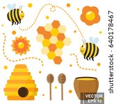 the bee. tasty and healthy... | Shutterstock .eps vector #640178467